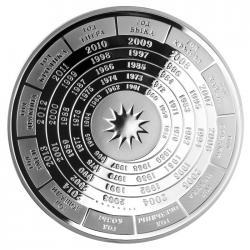 Серебряная медаль «Год быка», 65 мм, 0,999 пробы