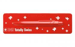 Шариковая ручка со швейцарским флагом Totally SWISS Collection (в металлическом пенале)