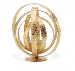 Подсвечник для чайной свечки РУСТИК, золотистый MG017